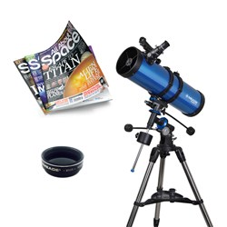 Meade Polaris 130 Telescope with Moon Filter, Magazine Subscription and Extra Eye Pieces