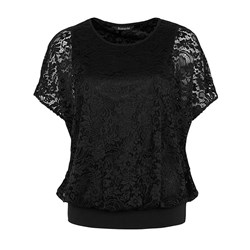David Emanuel Blouson Lace Top 25in