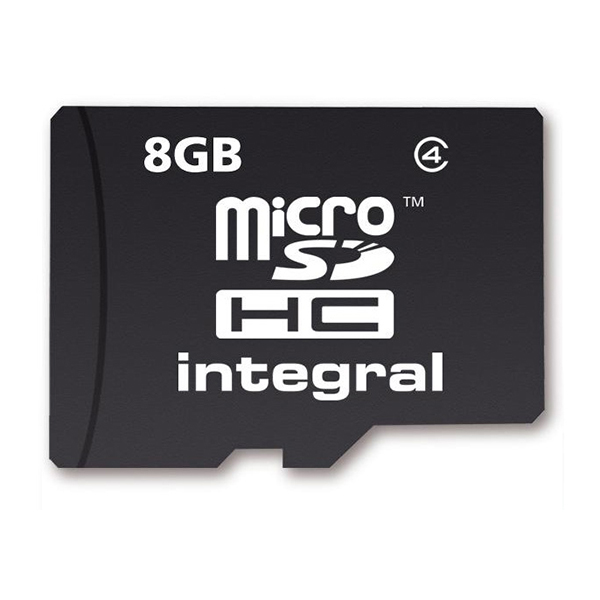 Integral 8GB Flash Memory Micro SD Card No Colour