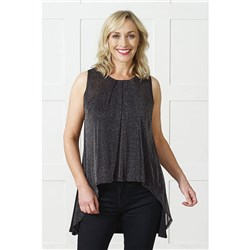 Lavitta Lurex Mesh Gathered Tunic