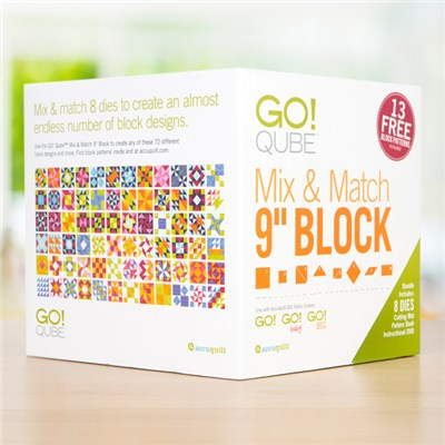 AccuQuilt GO Qube Mix and Match 9 Inch Block