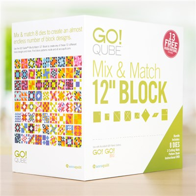 AccuQuilt GO Qube Mix and Match 12 Inch Block