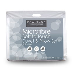 Downland Complete Micro Fibre Bed Set - King 10.5 Tog Duvet and Pillows