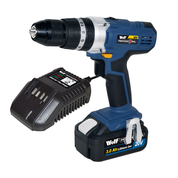 Wolf Pro 20V Li-ion Combi Drill No Colour