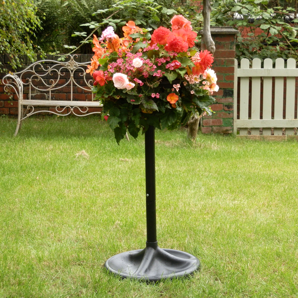 The Easy Fill Hanging Basket Pedestal Planter No Colour