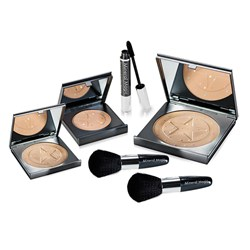 Mineral Magic Colour Correction Powder Collection - Mineral Powder 32g and 10g, 2 x Professional Stubby Brush, Mascara 8ml and Mineral Blusher 14g
