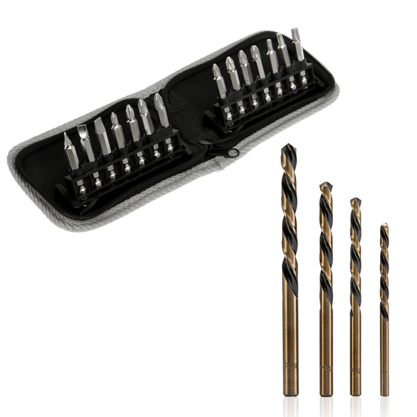 14Pc Diamond Tipped Screwdriver Bits and Reverse Drill Bits with 10YR Warranty No Colour