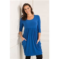 Nicole Empire 3/4 Sleeve Drape Dress