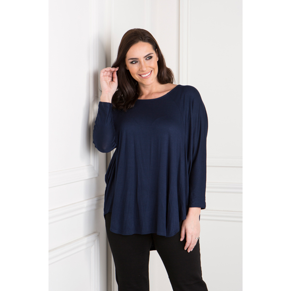 Daisy Eldridge Circle Hem Top Navy