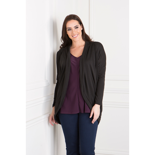 Daisy Eldridge Drape Pocket Cardigan Black