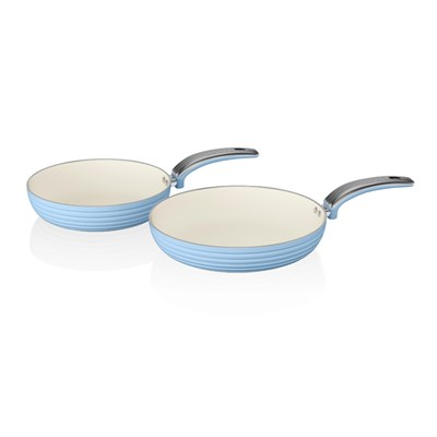 Swan Retro Frying Pan  2 Pack