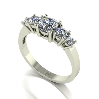 Moissanite 9ct Gold 1.10ct eq Lady Lynsey Half Eternity Ring