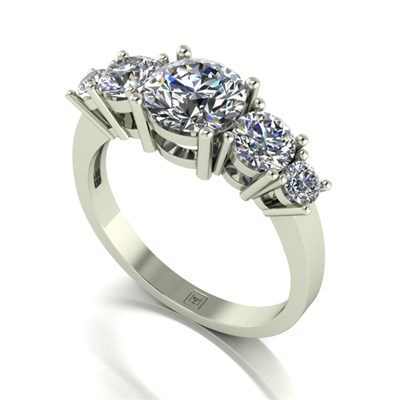 Moissanite 9ct Gold 2.05ct eq Lady Lynsey Half Eternity Ring