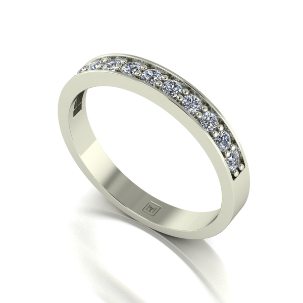 Moissanite 9ct Gold 0.33ct eq Lady Lynsey Half Eternity Ring White Gold
