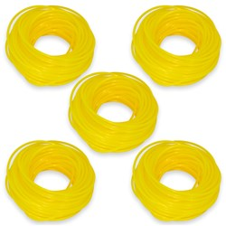 Pack of 5 x 15 metre 2.4mm Nylon Grass Trimmer Line