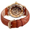 Stuhrling Gents Legacy Watch with Skeleton Dial, Transparency Detail and Embossed Leather Strap Brown's