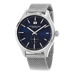 Stuhrling Gents Symphony Quartz Watch with Stainless Steel Milanese Bracelet Strap