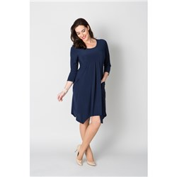 Nicole Empire Dip Hem Dress