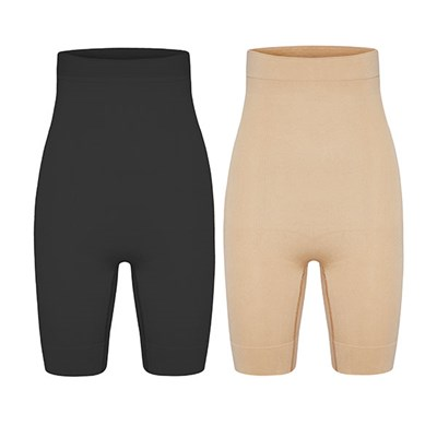 Bella Bodies Twin Pack High Waisted Shaping Shorts