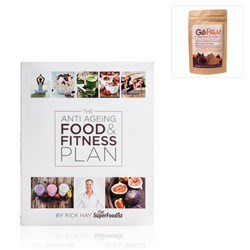 The Anti Ageing Food and Fitness Plan by Rick Hay with FREE Go Figa (50g) Super Food Fig Powder and Yoogaia 30 Days FREE Voucher