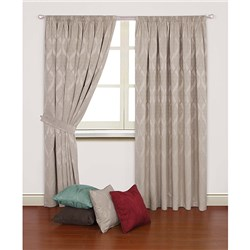 Orion 90 inch Width Thermal Backed Jacquard 3 inch Tape Header Curtains