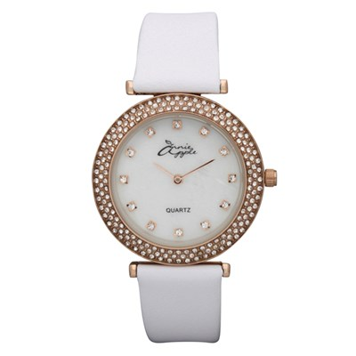 Annie Apple Ladies' Watch with Mother of Pearl Dial and Swarovski Elements Stone Set Dial