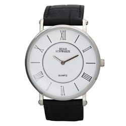 Hugo Schwarze Gents Kendall Watch with Leather Buckle Strap