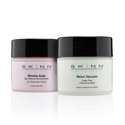 Skinn Deep Clean and Hydrate Duo - Wrinkle Soak Hydrating Mask 58ml and Vacuum Deep Pore Cleansing Mask 58ml