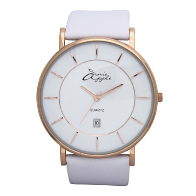 Annie Apple Ladies Infinity Watch with Leather Strap