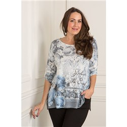 Made in Italy Floral Print Top