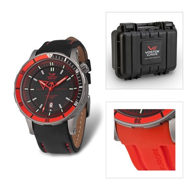 Vostok Europe Gents Limited Edition Anchar Titanium NH35  Automatic Watch with Leather and Silicon Straps Plus Dry Box