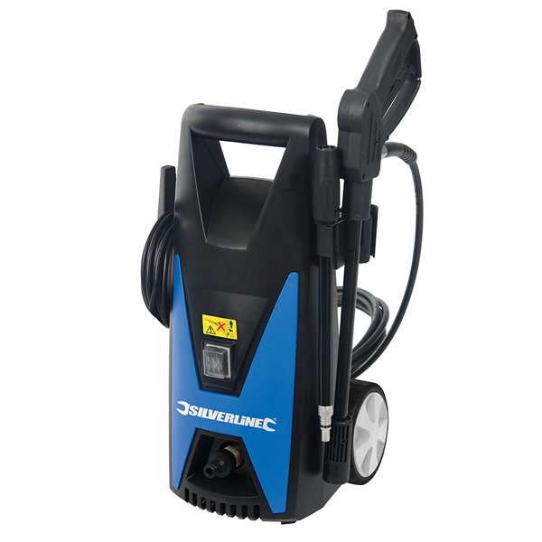 Silverline 1650W Pressure Washer with Accessories with 3 Year Warranty on Registration No Colour
