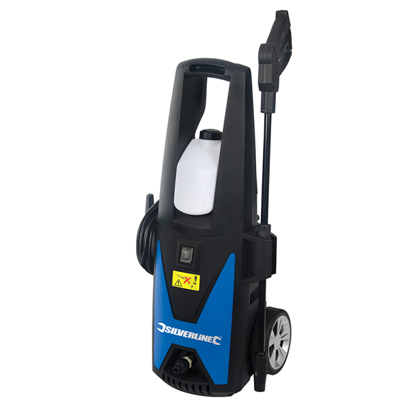 Silverline 1400W Pressure Washer with Accessories with 3 Year Warranty on Registration No Colour
