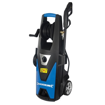 Silverline 1800W Pressure Washer with Accessories with 3 Year Warranty on Registration