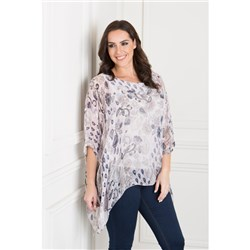 Maysa London Printed Chiffon Batwing Top
