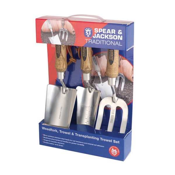 Spear and Jackson Traditional Stainless Weed Fork Trowel No Colour