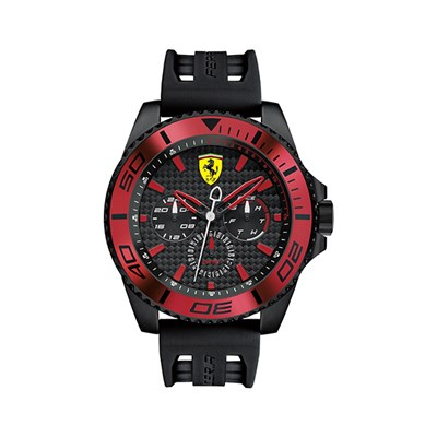 Scuderia Ferrari Gents XX Kers Multi Dial Watch with Silicone Buckle Strap