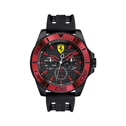 Scuderia Ferrari Gents XX Kers Multi Dial Watch with Silicon Buckle Strap