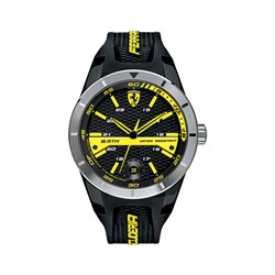 Scuderia Ferrari Gents Red Rev Watch with Date Window and Silicon Signature Buckle Strap
