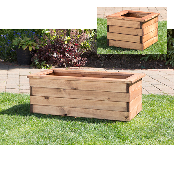 Corner Planter Set includes Troughs and Square Planter No Colour