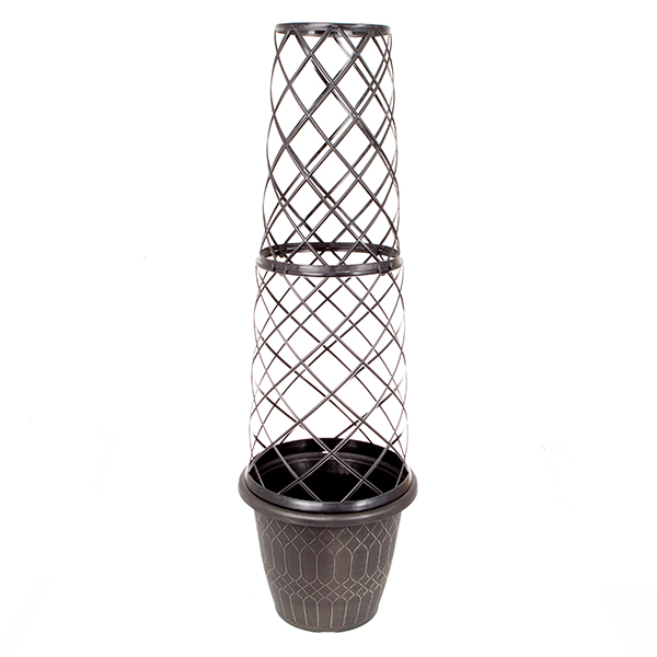 1.3M Tower Pot and Trellis No Colour