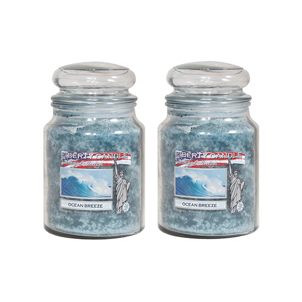 Liberty Candle Heritage 22oz Jar x 2 Ocean Breeze