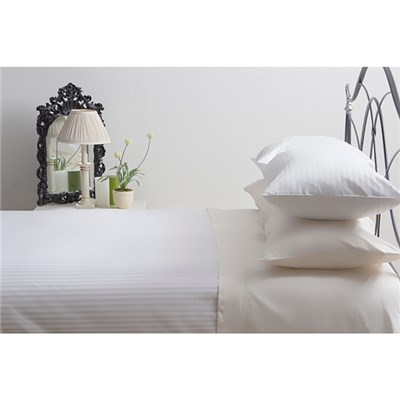Belledorm Hotel Suite Super King T540 Cotton Satin Stripe Duvet Cover