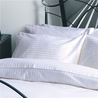 Belledorm Hotel Suite T540 Cotton Satin Stripe Oxford Pillowcase