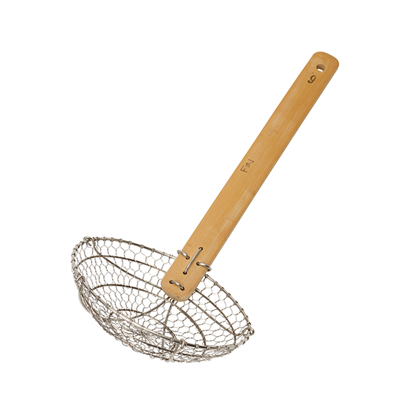 Image of Metal Wok Strainer, 38cm with Bamboo han 366789