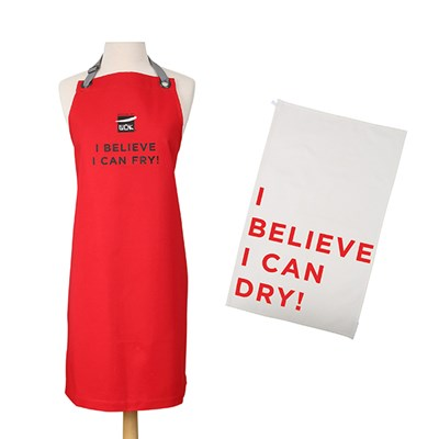 I Believe Tea Towel and Apron Box Set