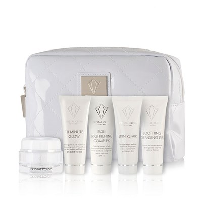 Crystal Clear Brighten and Glow Essentials with White Gift Bag