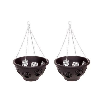 Pair of 15inch Easy Fill Hanging Baskets with 8 Gates