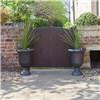 Pair Brushed Champagne Urn Planters 57cm (23inches) Tall