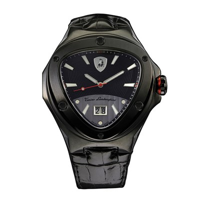 Tonino Lamborghini Spyder 3000 Swiss Quartz Watch with PVD Plating and Genuine Leather Strap